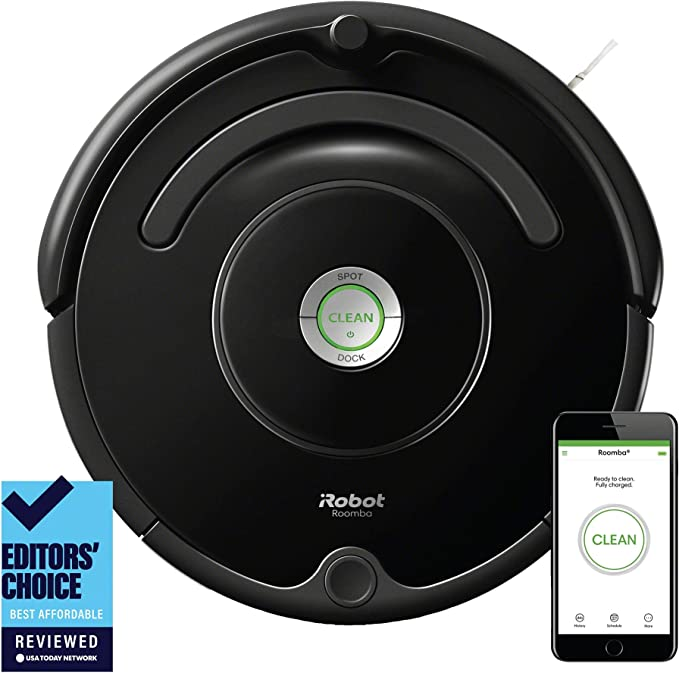 iRobot Roomba 675 Robot Vacuum-Wi-Fi Connectivity, Works with Alexa, Good for Pet Hair, Carpets, Hard Floors, Self-Charging best robot vacuums