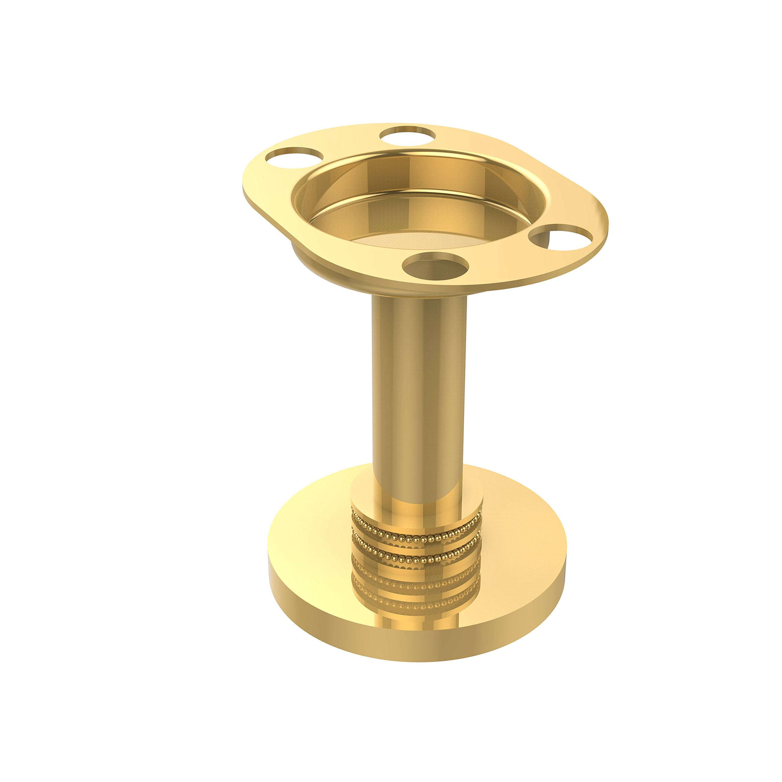 Allied Brass 955D-PB Vanity Top Tumbler and Toothbrush Holder, Polished Brass