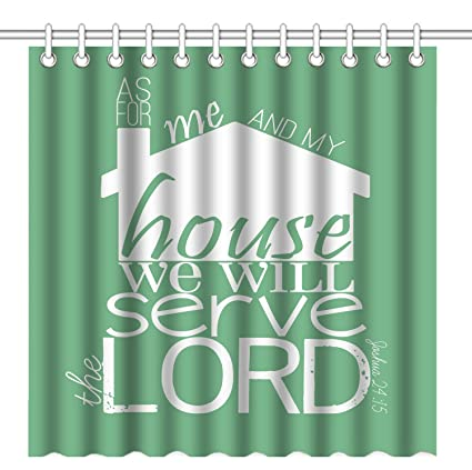 Wknoon 72 X Inch Shower Curtain Bible Verse Scripture Quotes