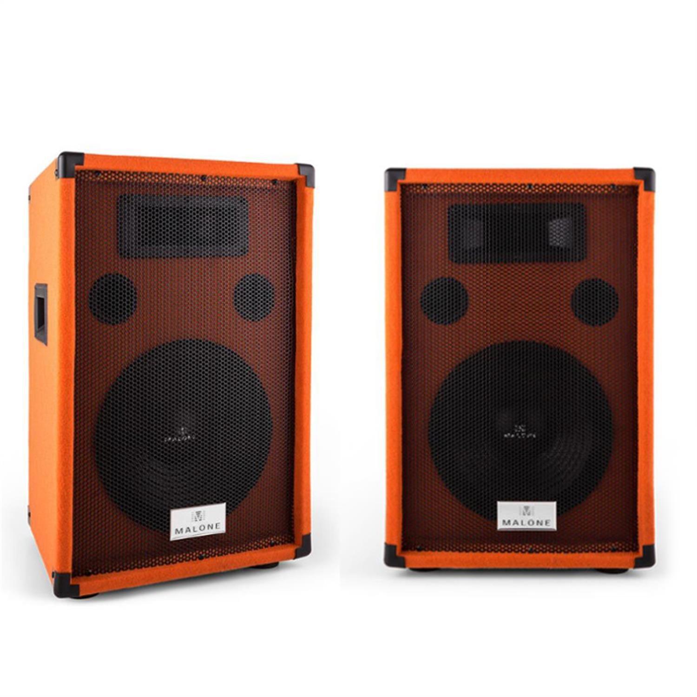"Malone Beatamine-D Paar PA-Boxen 25cm 10"" 200W RMS. Naranja"