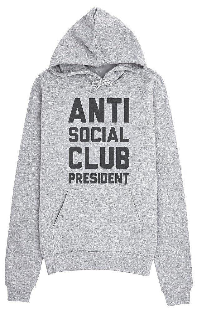 3465bc423206 Amazon.com  IDcommerce Anti Social Club President Women s Hoodie Pullover   Clothing