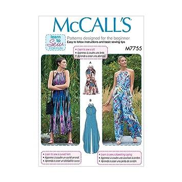 McCall \'s Learn To Sew Damen Spielanzug und Jumpsuits   XS-M ...