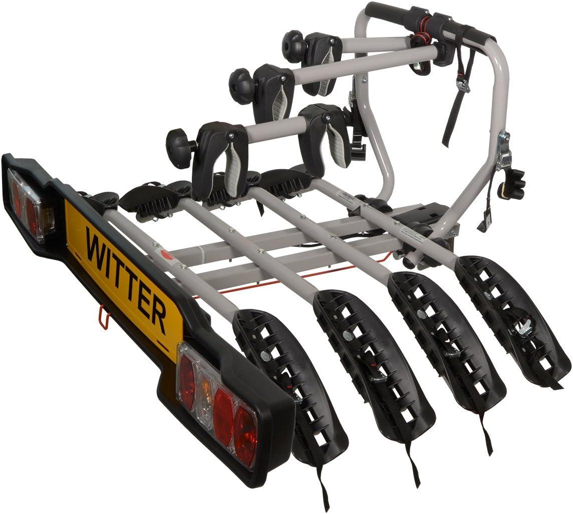 Witter Towbars ZX204/aufschraubbare Fahrradhalterung f/ür 4 Fahrr/äder f/ür die Anh/ängerkupplung