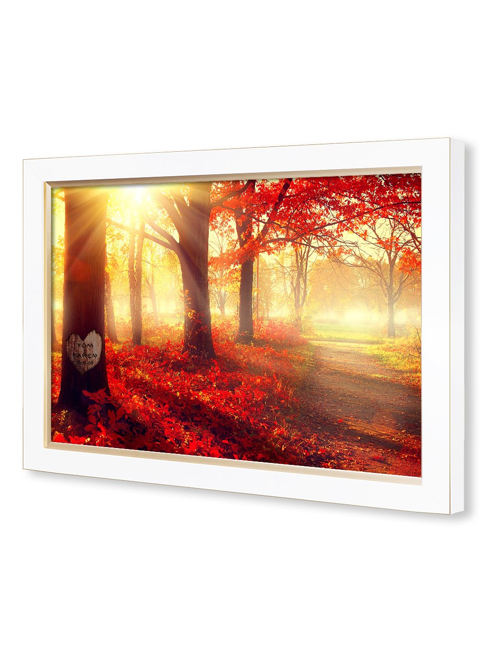 IPIC - ''You Are My Sunshine'', Personalized Artwork with Names and Date on, Perfect love gift for Anniversary,Wedding,Birthday and Holidays. Picture size: 30x20'', Framed Size: 33x23x1.25'' by IPIC (Image #3)