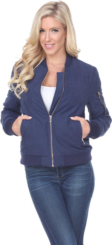 white mark Women's Classic Bomber Jacket Short Quilted Zipper Coat
