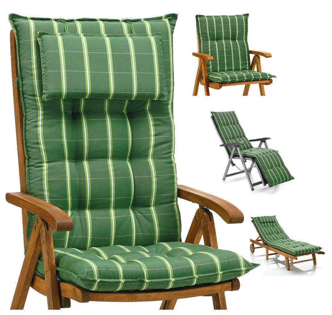 ohne Stuhl Luxus Auflagen für Hochlehner 9 cm dick mit Kopfkissen Miami 20426-200 Möbelträume