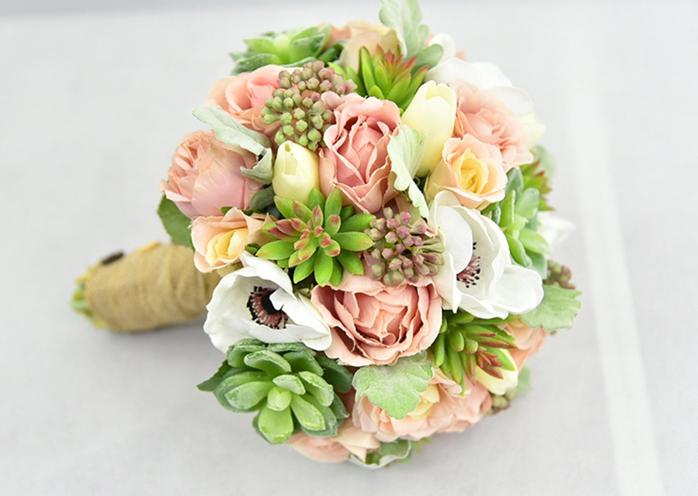 Yokoke-Wedding-Bridal-Bridesmaid-Bouquet-Wedding-Holding-Flower-Artificial-Peony-Rose-Green-Succulent-Berry-for-Wedding-Church-Party-Home-Decor