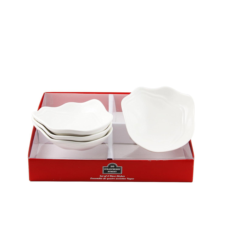 White 10 Strawberry Street TBX-MILKJUG3 Tid Bit Sets Red Box Milk Jug Set of 3