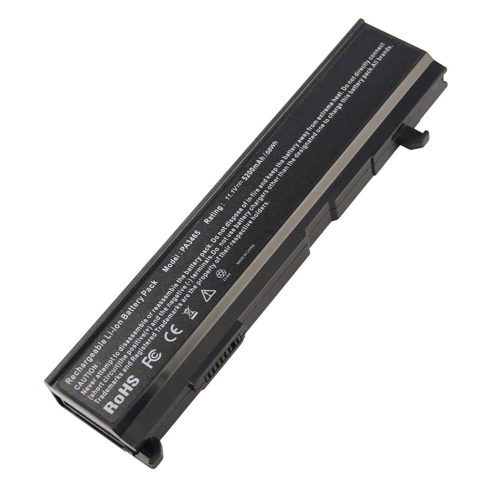 Bateria 5200mAh 11.1V PA3465U-1BRS Toshiba PA3465U-1BRS PABA