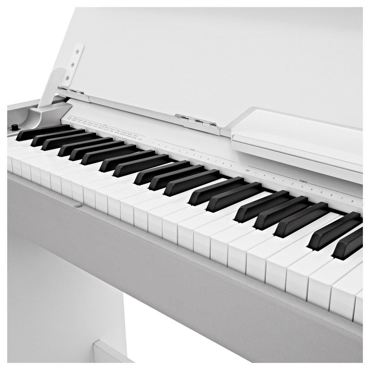 Piano Digital Compacto DP-7 de Gear4music - Blanco