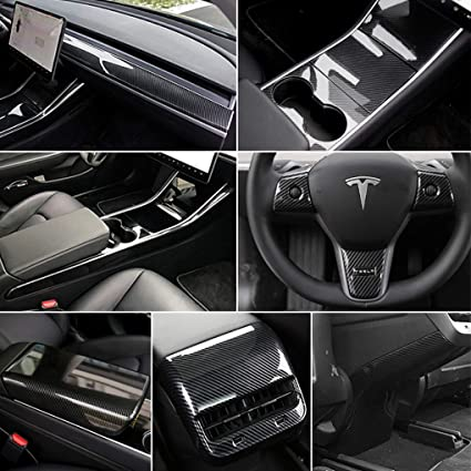 For Tesla Model 3 Center Console Wrap Car Decoration Accessories Anti-scratch
