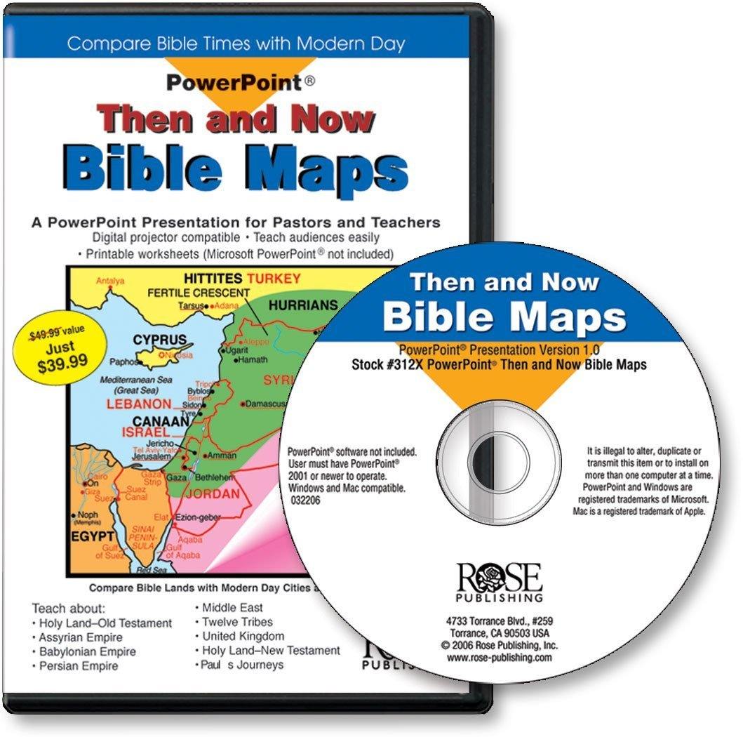 Then and Now Bible Maps PowerPoint presentation: Compare Bible Times with Modern Day (PowerPoint Presentations)