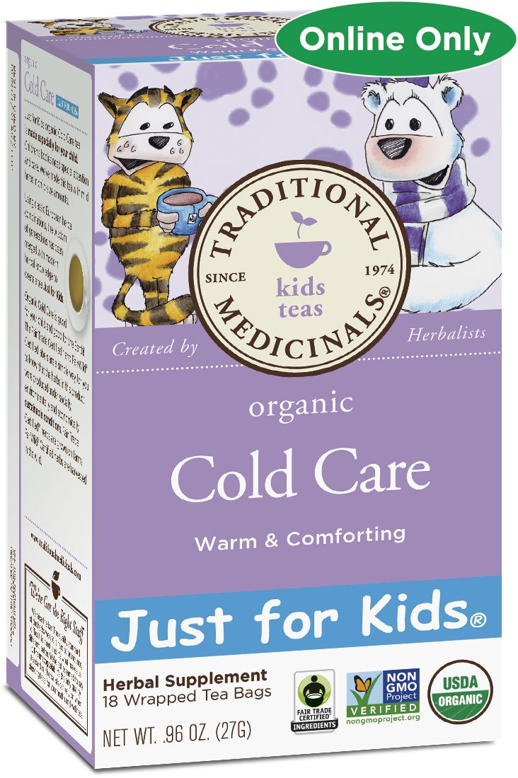 Traditional Medicinals Just for Kids Organic Cold Care Tea, 18 Tea Bags (Pack of 1) by Traditional Medicinals