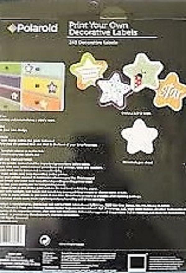 best decorative labels.htm amazon com polaroid print your own decorative labels star 1    x1  polaroid print your own decorative