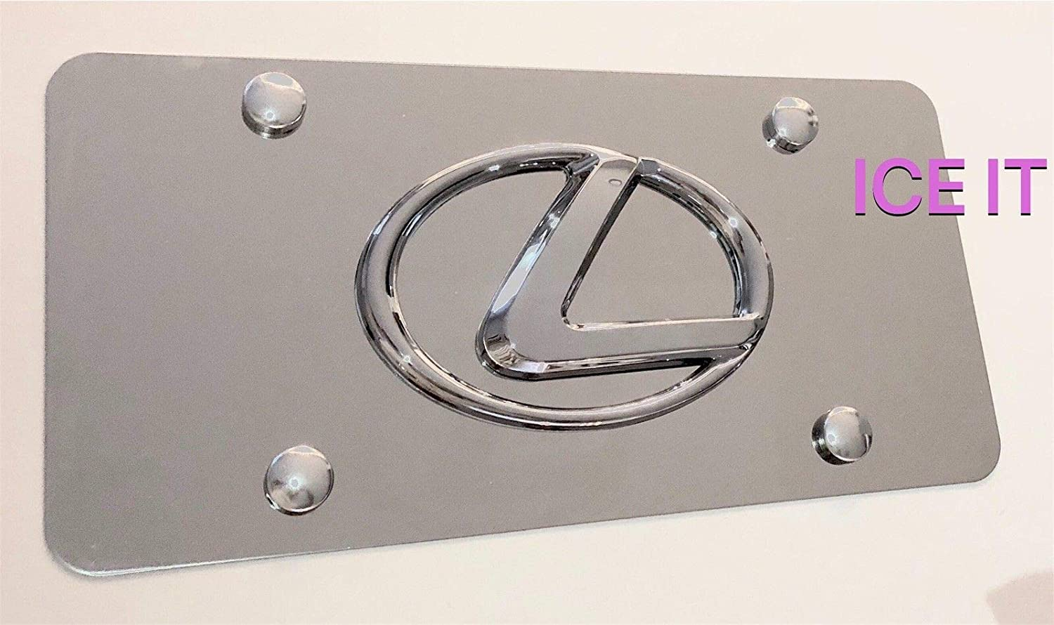 Lexus Front Black Stainless Steel Heavy Duty 1mm License plate W Bolts