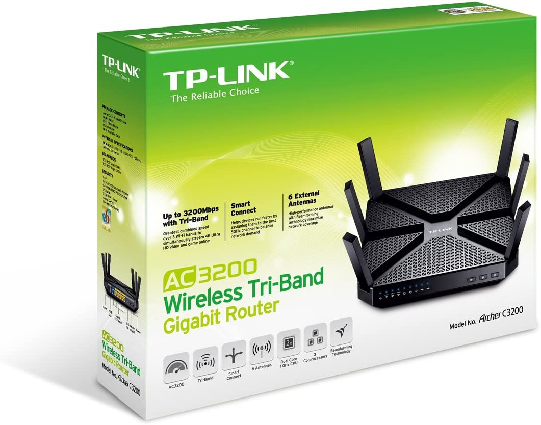 Tp Link Archer C3200 Tri Band Wlan Gaming Router Computer Zubehör