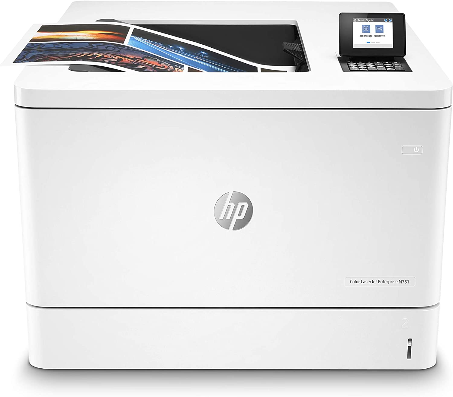 HP Color LaserJet Enterprise M751dn Printer with One-Year, Next-Business Day, Onsite Warranty (T3U44A), White, One Size