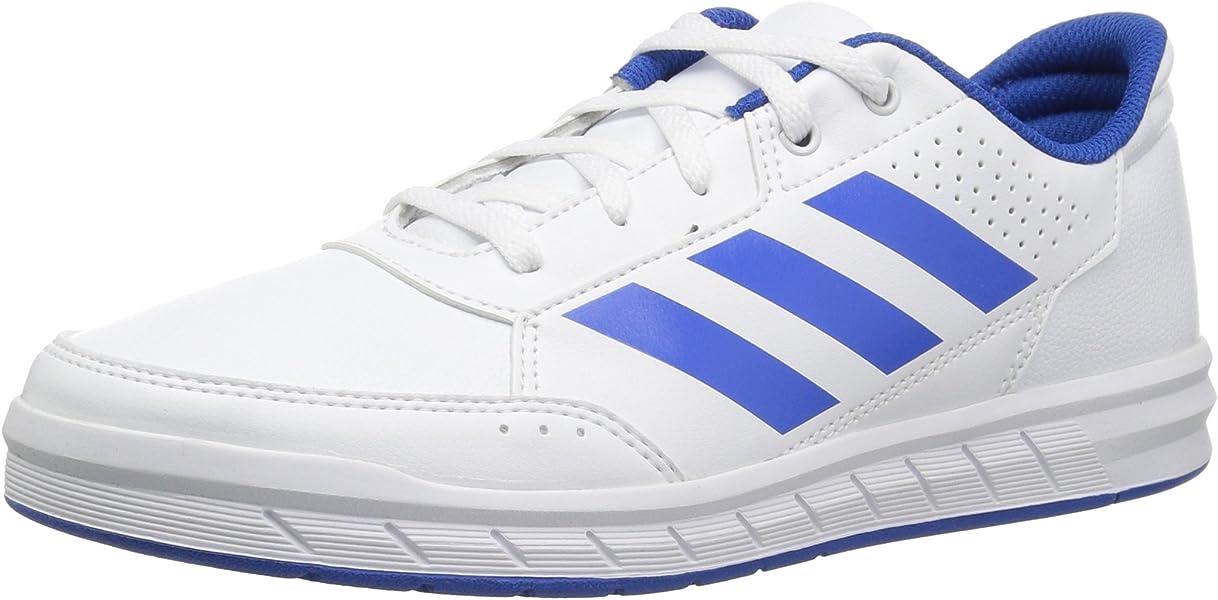 buy popular 46384 89580 adidas Originals Unisex-Kids Altasport Sneaker, White Blue White, 1.5 M