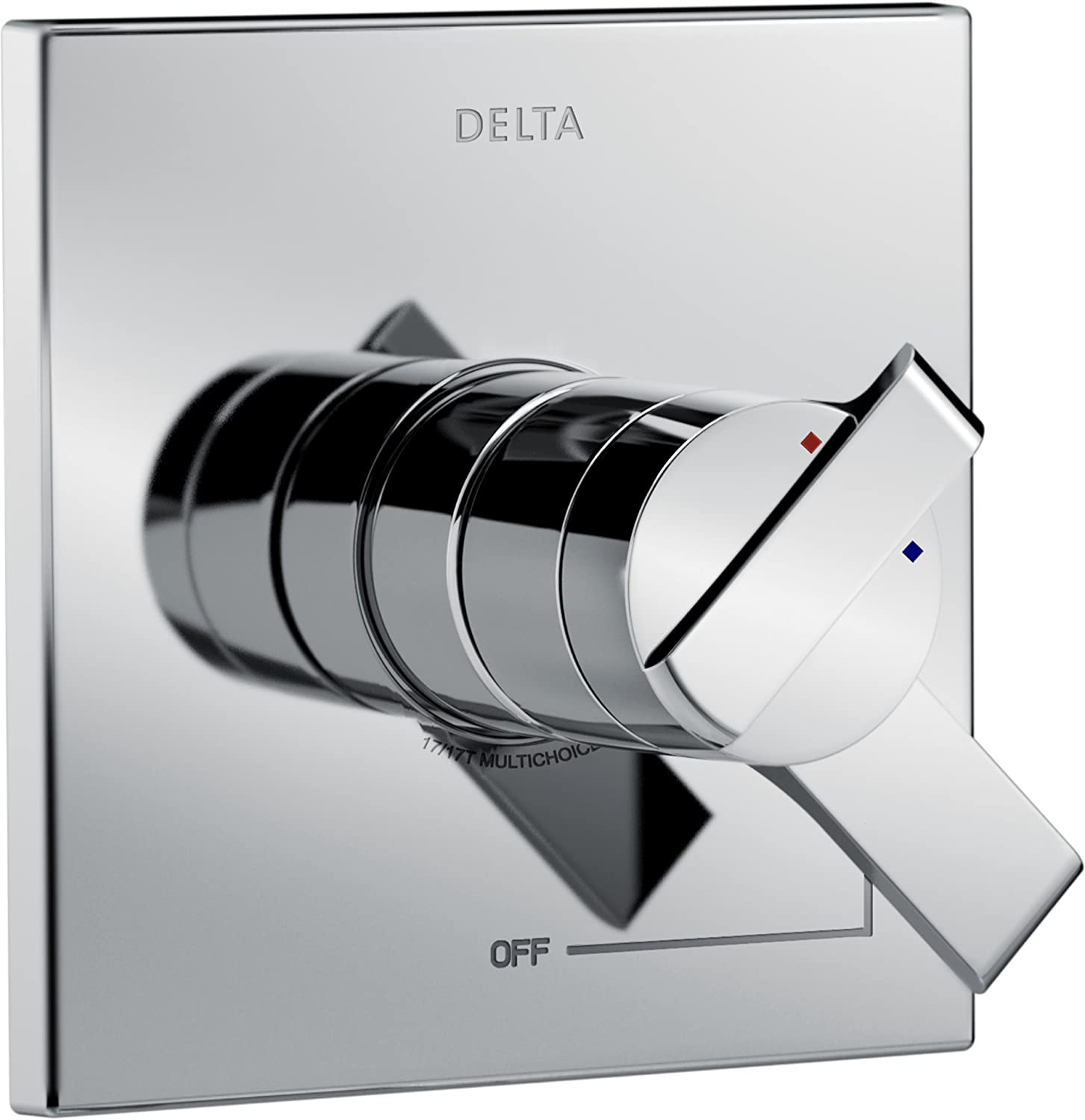 Delta Faucet Ara 17 Series Dual-Function Shower Handle Valve Trim Kit, Chrome T17067 (Valve Not Included)