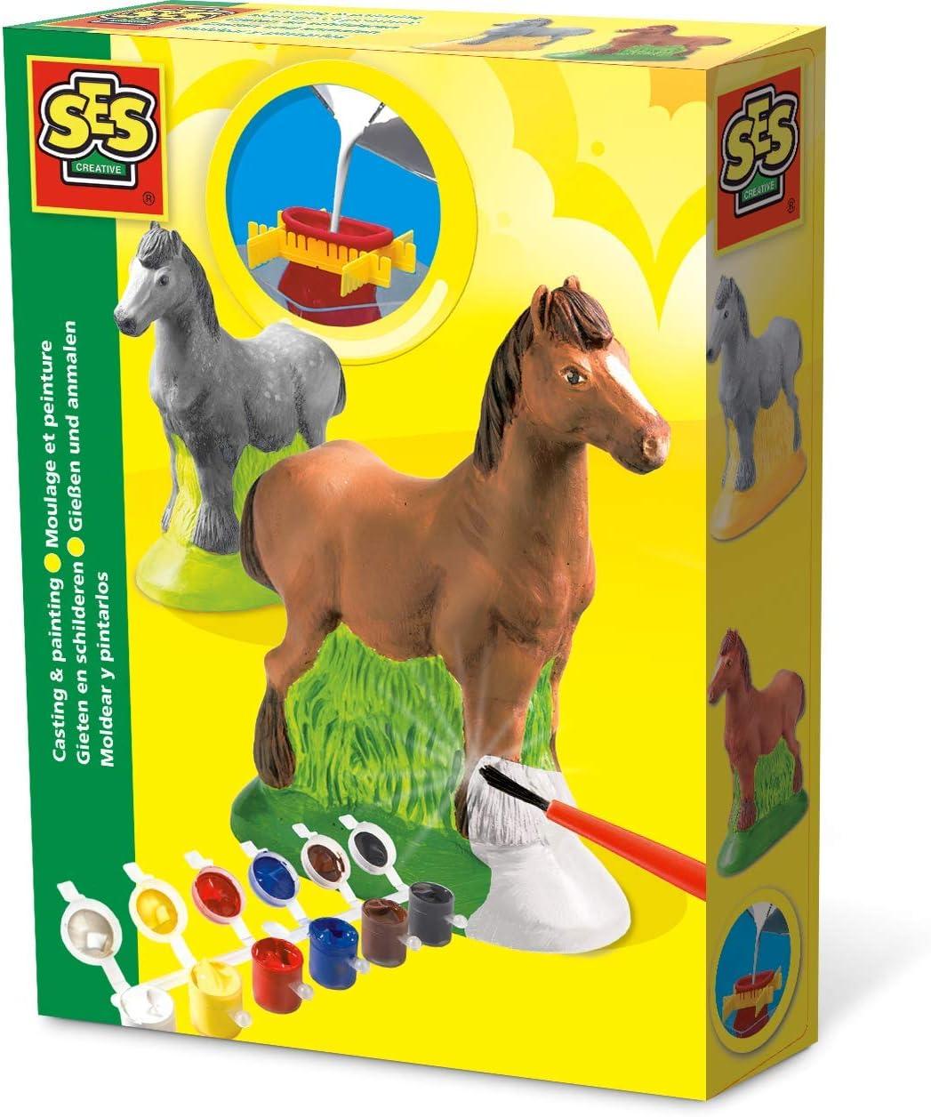 Ses- Set de moldear y Pintar Caballos para niños, (01211)