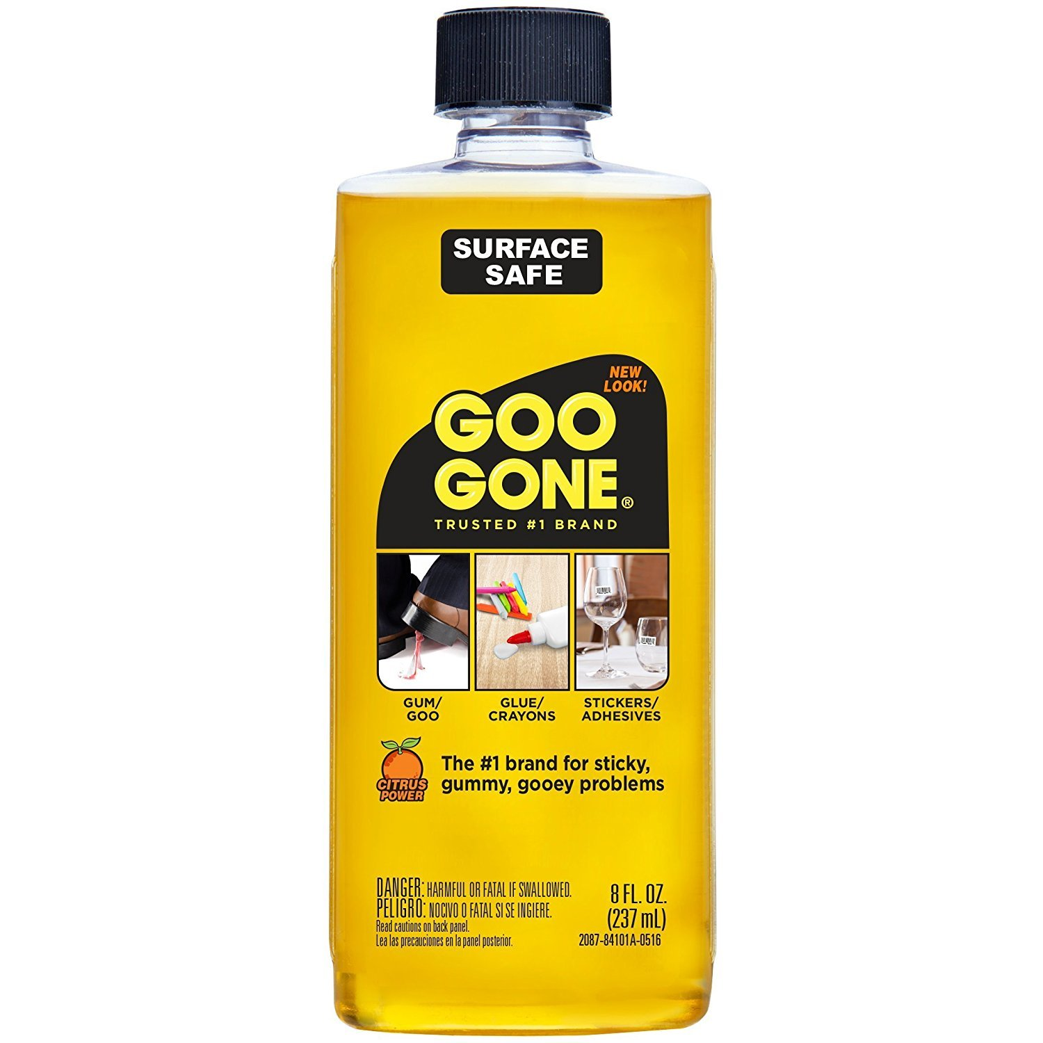 Goo Gone 8 oz. - Removes stickers, grease, gum, tar, crayon & tape (6)