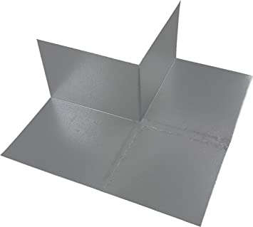 Roof Corner Flashing For Inside Outside Corners Soldered Galvanized Steel For Superior Roof Waterproofing Roof To Wall Flashing System 1 Left Inside Corner 2 12 Pitch Amazon Com