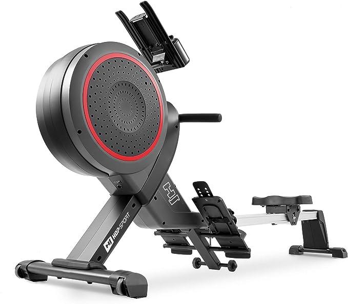 Hop-Sport Rudergerät HS-100AR Luft-Ruderzugmaschine Air Rower Ruderergometer