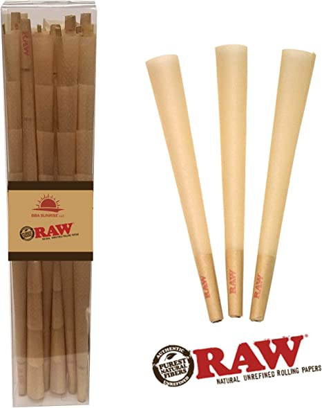 100/%AUTHENTIC 100 pack raw classic lean size pre-rolled cone