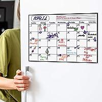 Magnetic Calendar Planner for Fridge 40x30cm, Reusable Monthly Fridge Calendar, Undated Planning Board Pad, Dry Erase…
