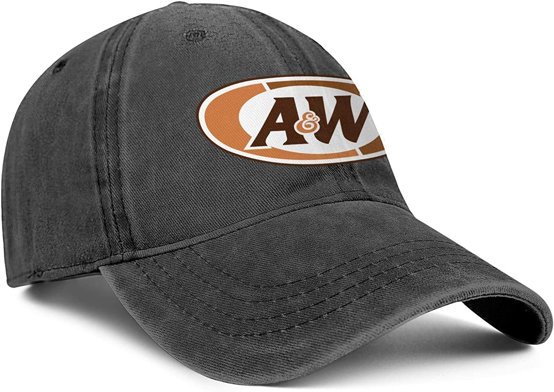 Cap Printed Cowboy Hats Hiking Caps Denim CAEEKER Mens Women A/&W-Logo