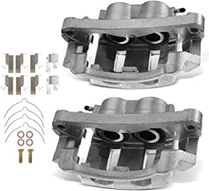 A-Premium Disc Brake Caliper Assembly with Bracket Compatible with Ford Excursion 2000-2005 F-250 Super Duty F-350 Super Duty 1999-2004 Front Left and Right Side 2-PC Set