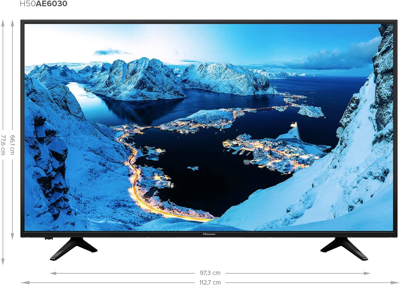 Hisense H50AE6030 - Smart TV VIDAA U, Super Contraste, Precision ...