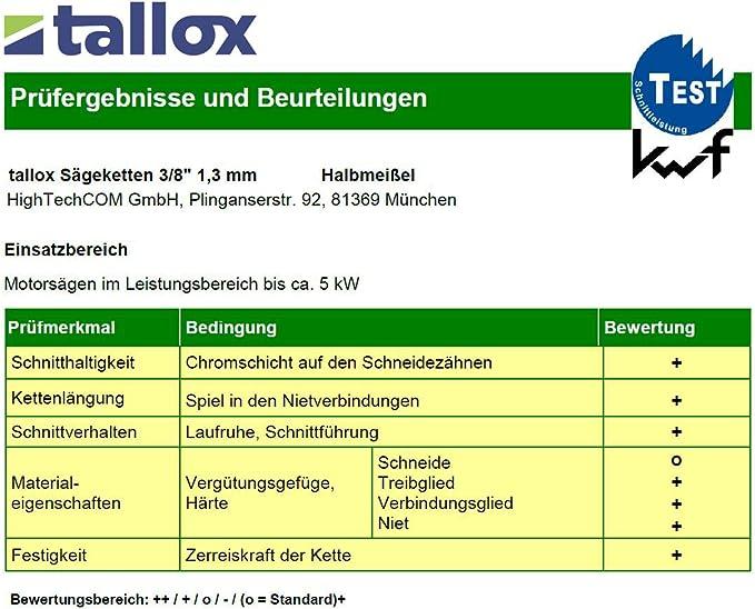 "Sierra de cadena compatible con Husqvarna 136 33 cm 325/"" 56 TG 1,3 mm halbmeißel Chain"