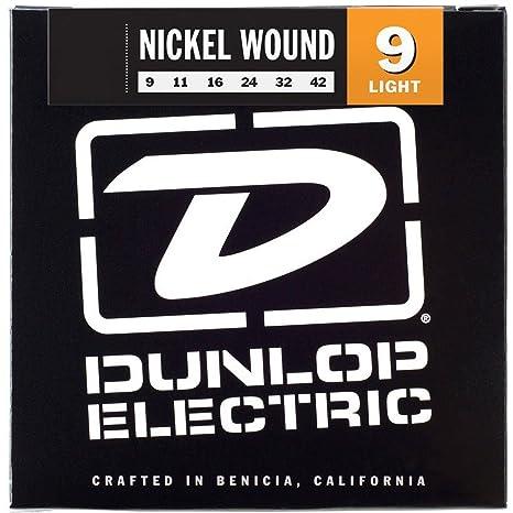 Dunlop den0942 Light níquel Wound Cuerdas para guitarra eléctrica (0,09 – 0,