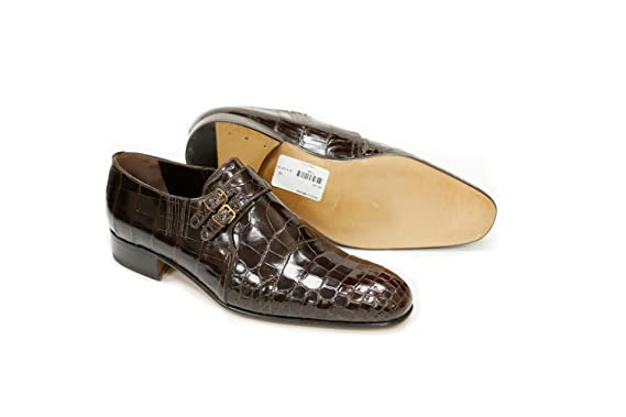 Brown Crocodile Double Monk Strap Slip-On List Price: 00.00 (Now 50% OFF)