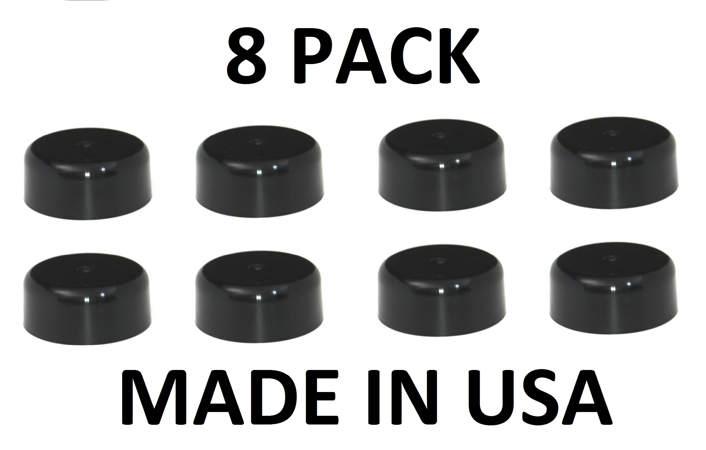 New Fence Post Plastic Caps Black 8 Pack of 3.5 (3 1/2) Pressure Treated Wood Made In USA