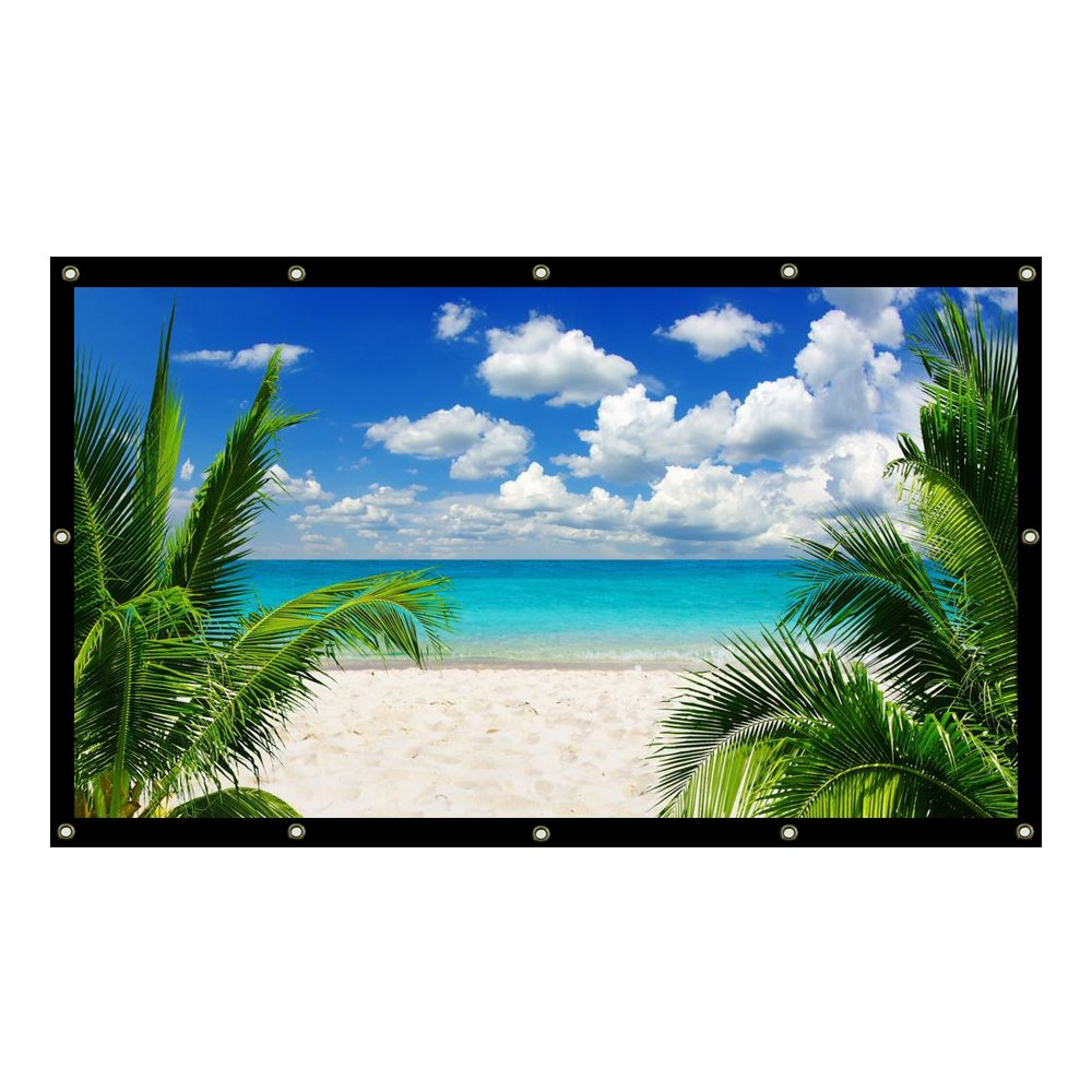 Projector accessories 100-300 inches 16:9/4:3 Projector HD Screen Portable Folded Front projection screen fabric with eyelets without Frame (150 inch, 4:3)