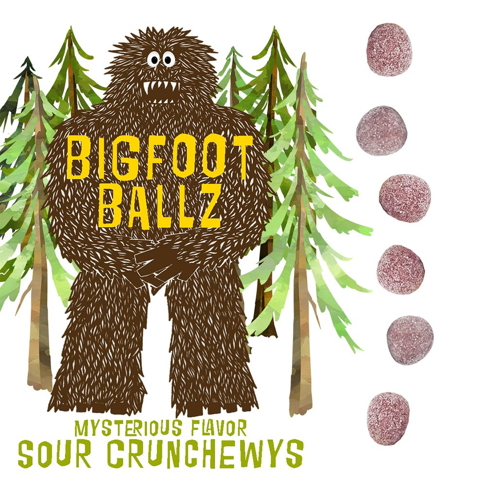 Bigfoot Ballz Sour Candy - Mystery Flavor Balls - MADE IN THE USA - Best Stocking Stuffer for Men & Women