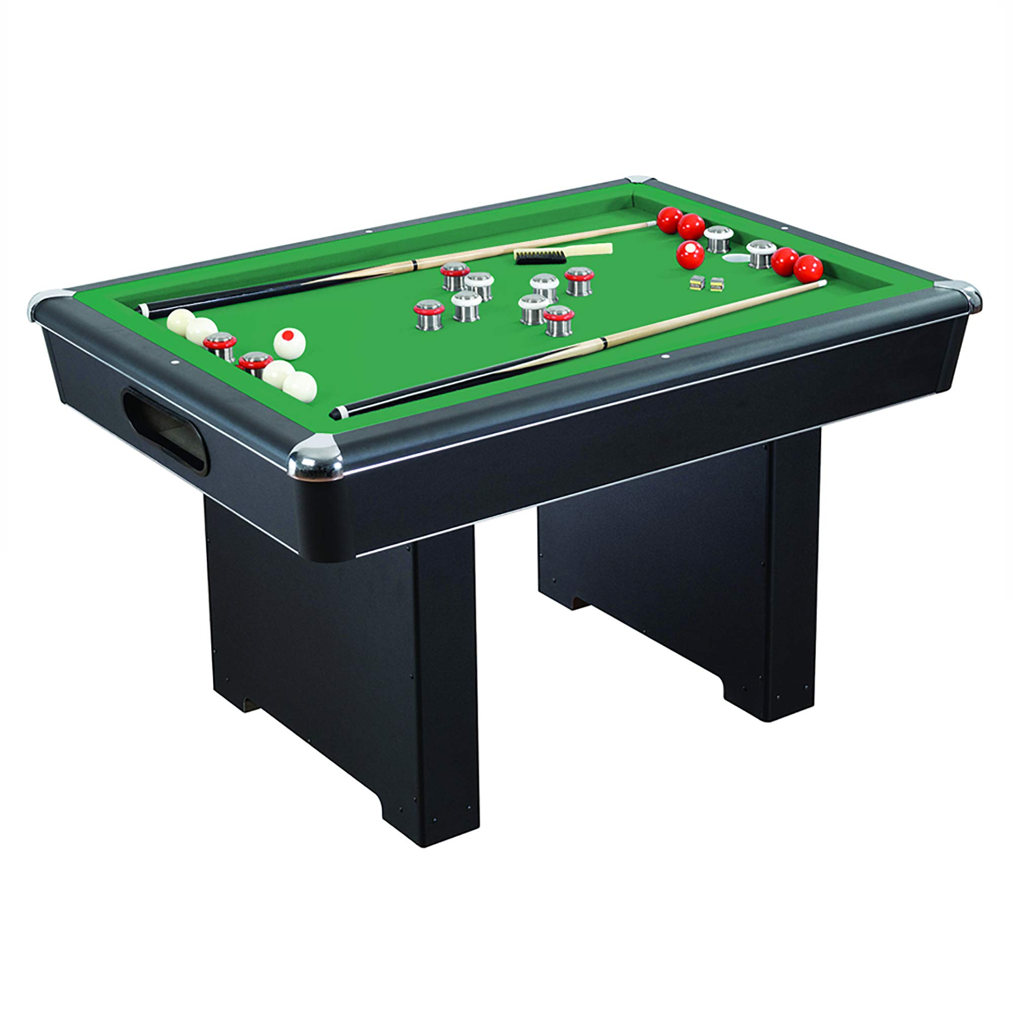 Hathaway Renegade 54-in Slate Bumper Pool Table for Family Game Rooms with Green Felt, 48-in Cues, Balls, Brush and Chalk by Hathaway