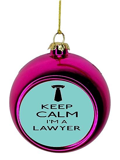 Lea Elliot Inc. Keep Calm I'm a Lawyer in Blue Gift Appreciation Bauble - Amazon.com: Lea Elliot Inc. Keep Calm I'm A Lawyer In Blue Gift