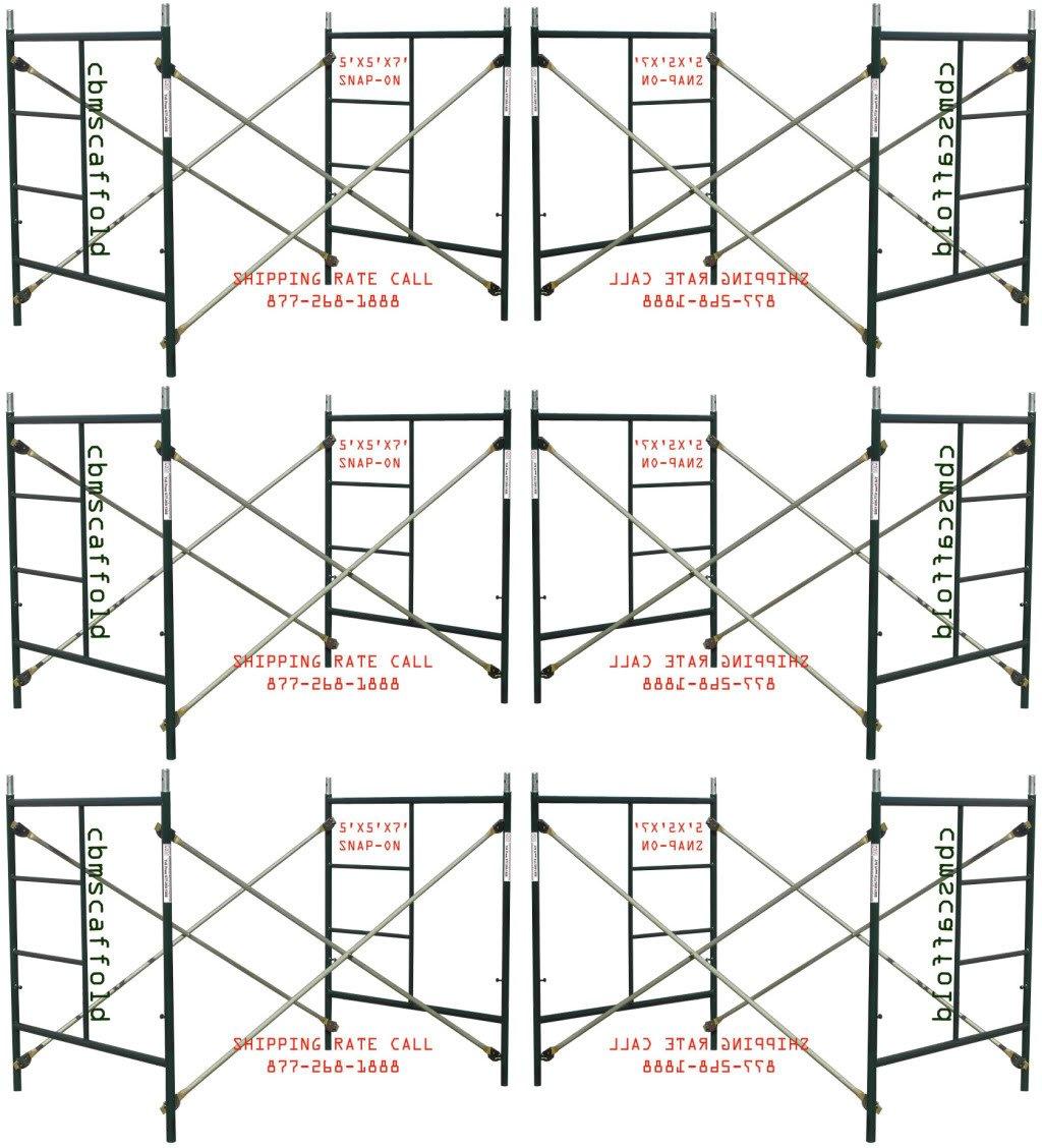 6 Set New Snap-On Lock 5' X 5' X 7' Masonry Scaffolding Frame Sets CBMSCAFFOLD