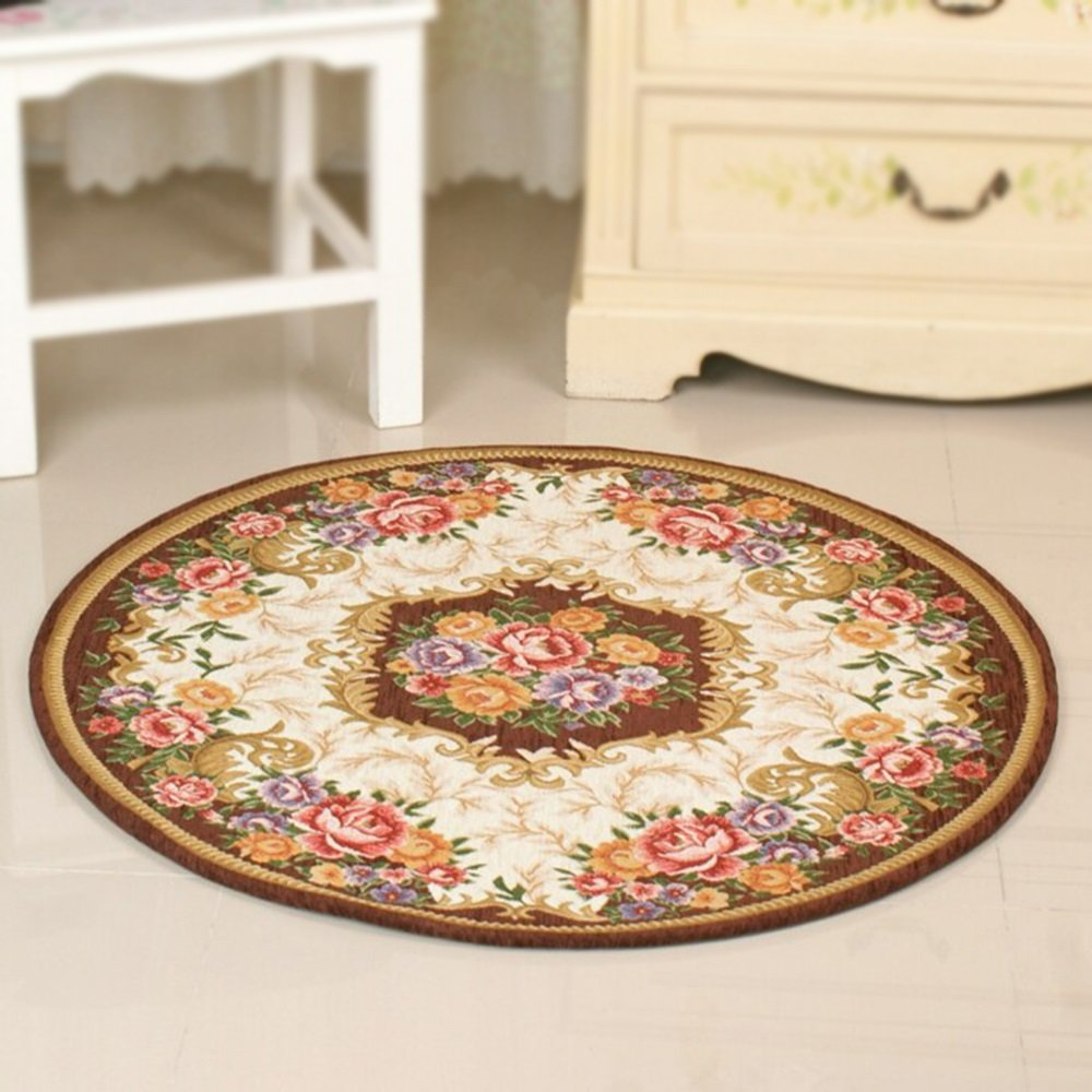 Coffee table mat/round carpet/continental carpet/Chinese style vintage mat/bedroom living room make-up stool round pad/rocking chair round carpet/computer chair cushion