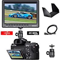 Neewer F100 7-inch 1280x800 IPS Screen Camera Field Monitor with 1 Mini HDMI Cable for BMPCC,AV Cable for FPV, 16:10 or…