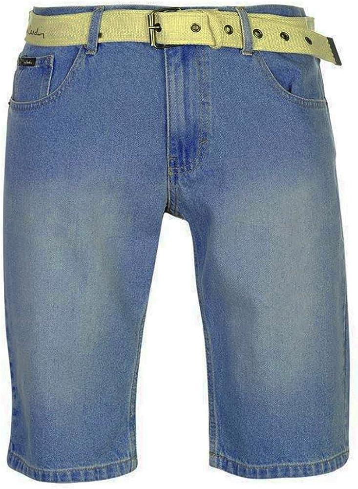 Pierre Cardin Mens New Season Denim Knee Length Shorts with Canvas Woven Belt