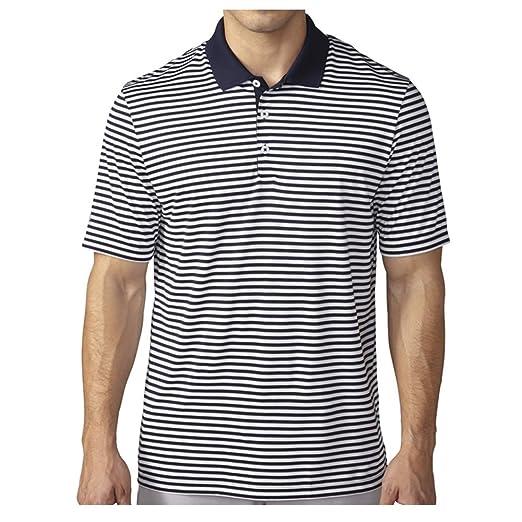 74a099d87a6d Amazon.com: adidas Golf Men's Golf Performance 3-Color Stripe Polo Shirt:  Clothing