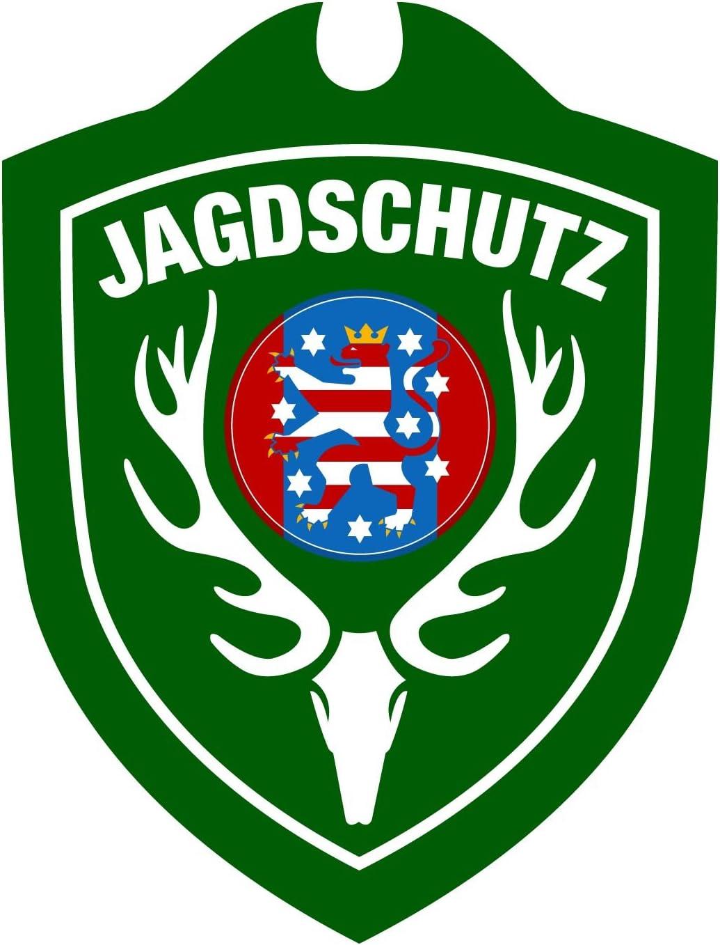 Erwachsene Jagdschutz Th/üringen Autoschild One Size Gr/ün Waidmannsbruecke Unisex/
