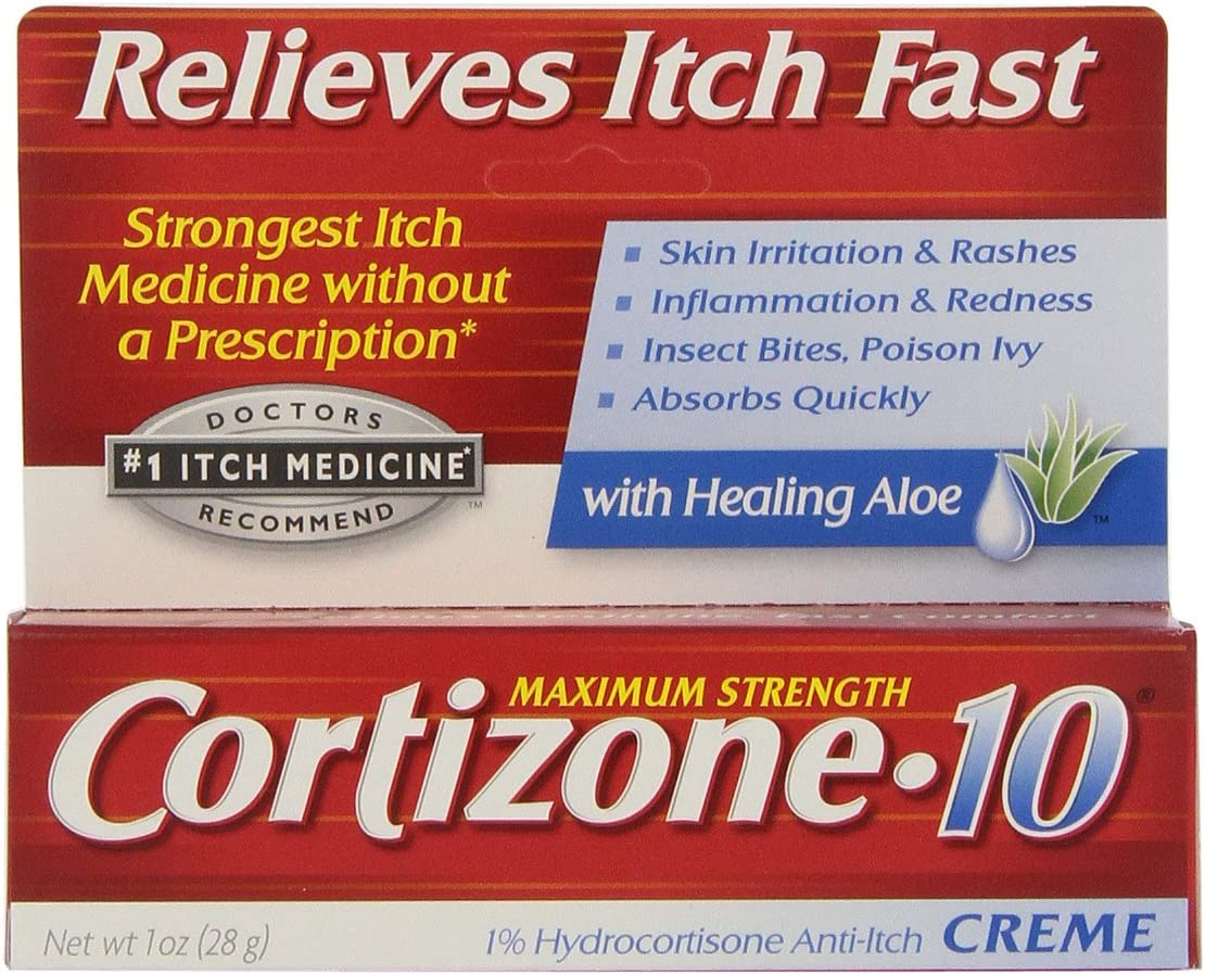 Cortizone 1% Hydrocortisone Anti-Itch Cream, 1 oz: Health & Personal Care