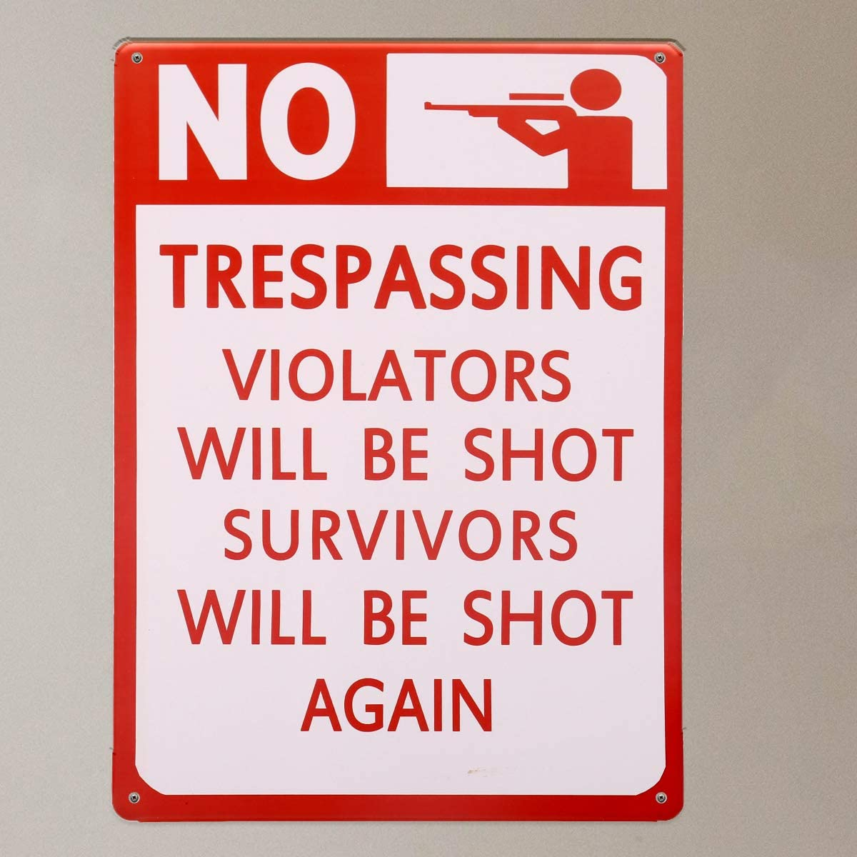 2 Vintage Posted No Trespassing Metal signs
