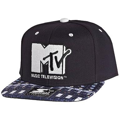 3dc2e4ec7aa Starter Black   White MTV Studio Visor Boards Snapback Baseball Cap Size  Adjustable