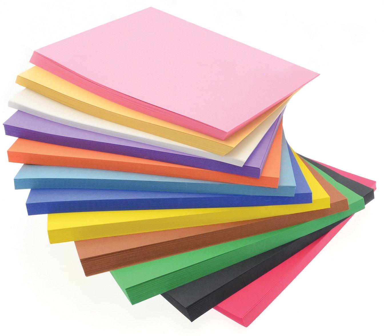 Super Value Paper Stack  500 Sheets A4+ Construction Paper Activity Paper in 10 Vivid Colours